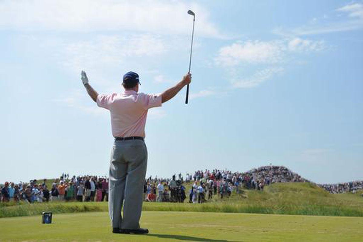 Legendary pro golfer Tom Watson