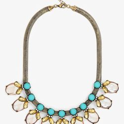Crystal Bud Color Collar Necklace, $52