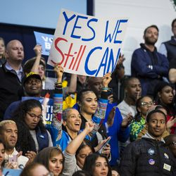 Thousands attend a Get Out The Vote rally Sunday. | Ashlee Rezin/Sun-Times