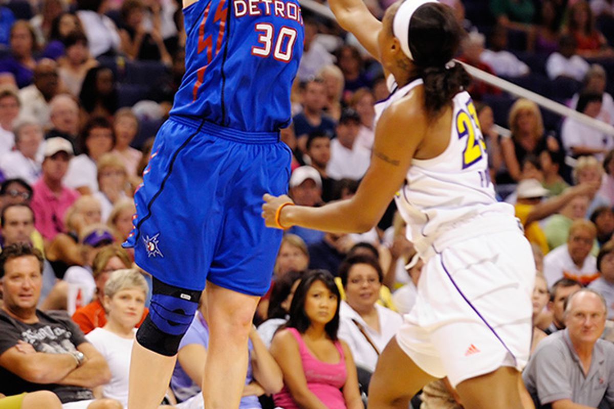 Veteran Olympian and three-time WNBA champion Katie Smith signed with the Washington Mystics today. But in addition to experience, what does she add to this team? <em>(Photo by Max Simbron) </em>