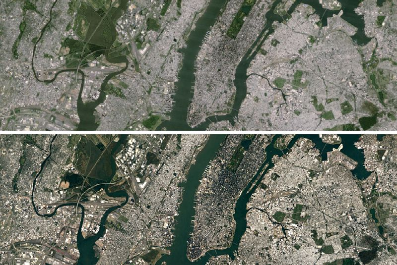 Google Updates Maps And Earth Apps With Super Sharp Satellite - New york city map google