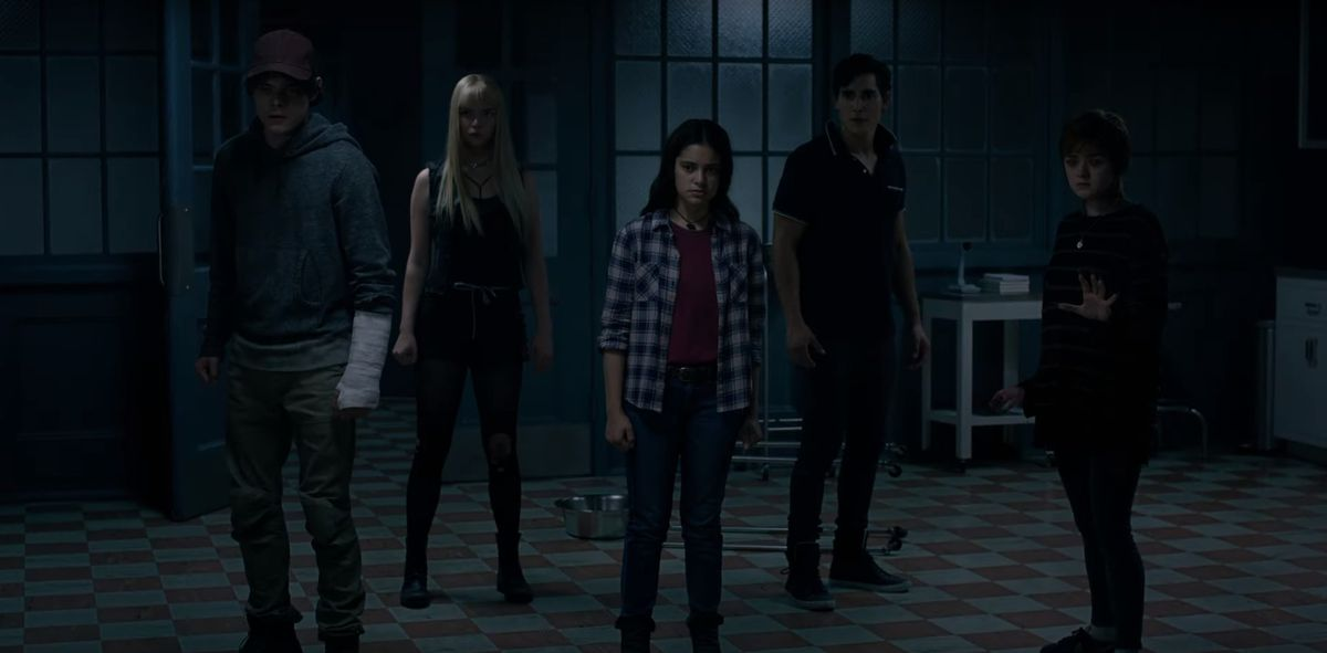 The New Mutants X-Men team stands in the middle of a hospital