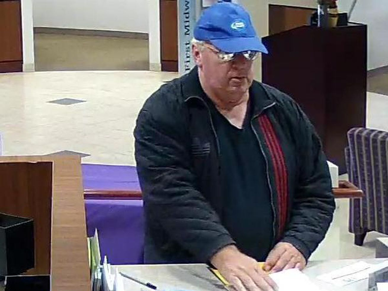 The FBI says this man robbed a bank in Joliet on Sept. 19, 2019. | FBI
