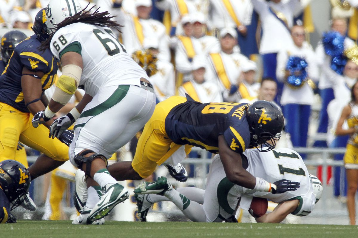 Clarke will need to do a lof of this for the Mountaineers in 2013
