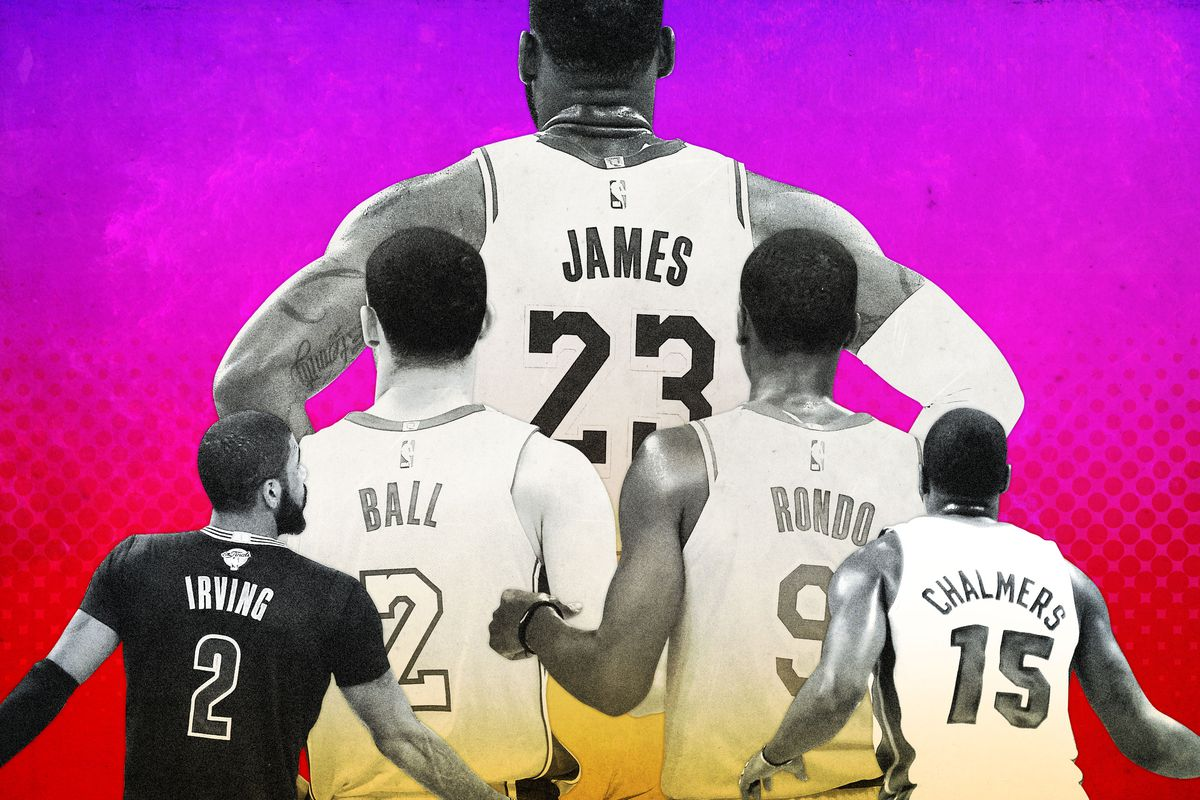LeBron James and the various point guards he's played with