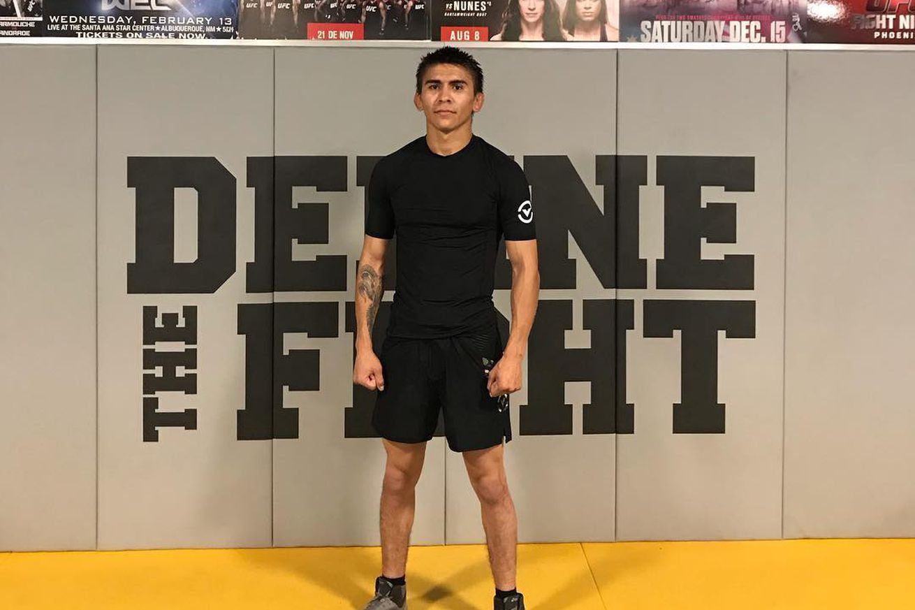 Mario Bautista (pictured) fights Cory Sandhagen in a bantamweight bout at UFC Brooklyn on Jan. 19