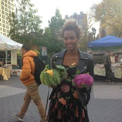 I get up early and go to the <strong>Union Square farmer's market</strong> before work. I come across a stand of organic technicolor cauliflower! You've never seen things so beautiful. Bright violet! Orange! I shell out $30 and buy four heads because I ca