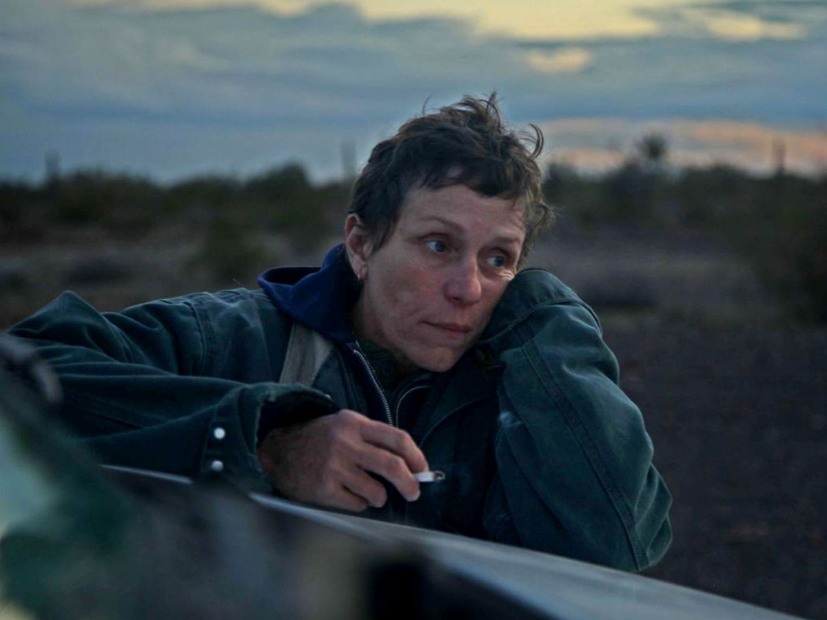 mcdormand smoking a cigarette