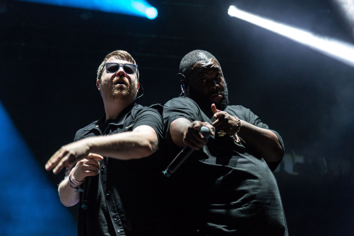 Run the Jewels play a headlining set on the last day of Riot Fest in 2018.