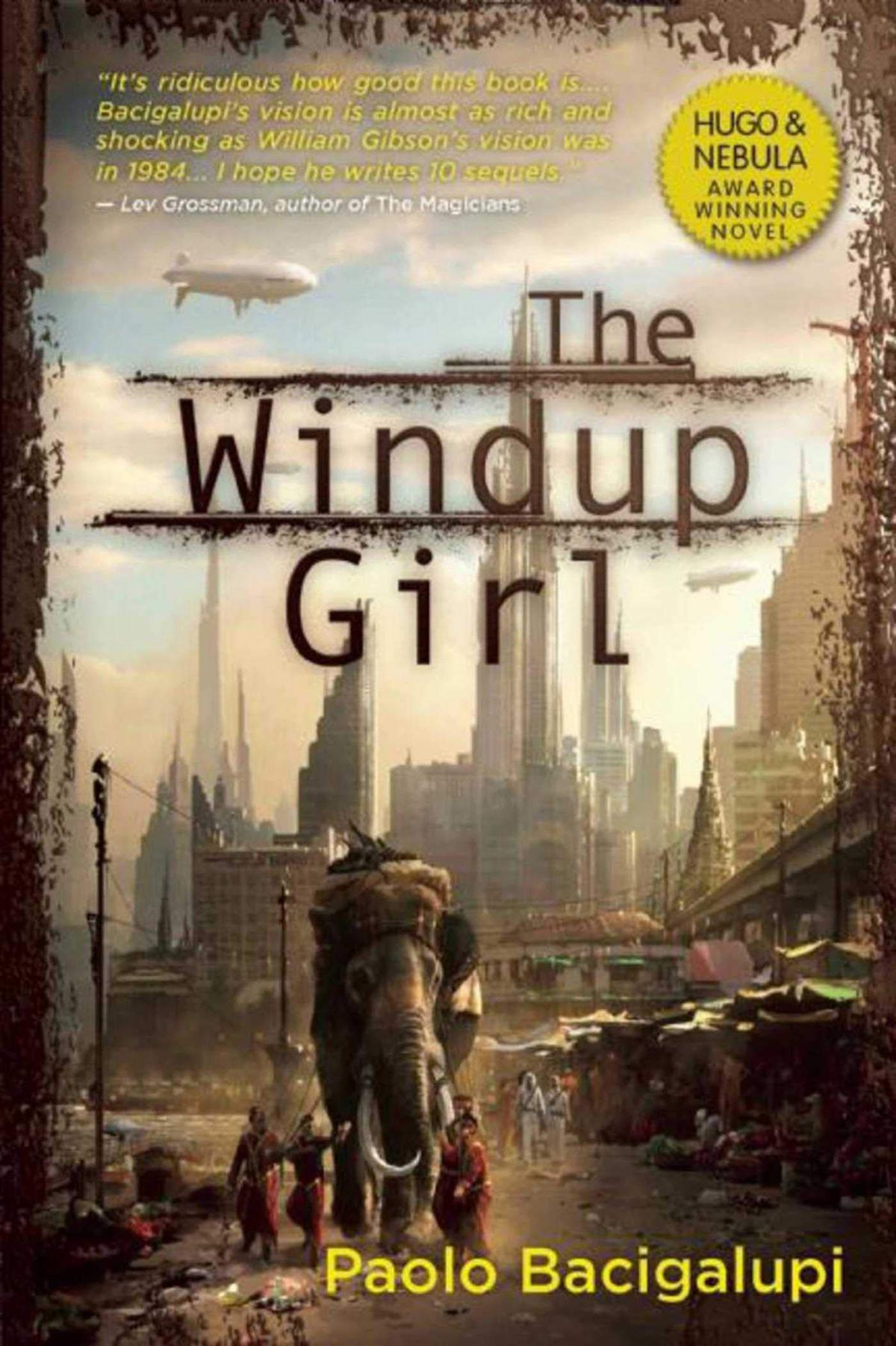 The Windup Girl by Paolo Bacigalupi cover