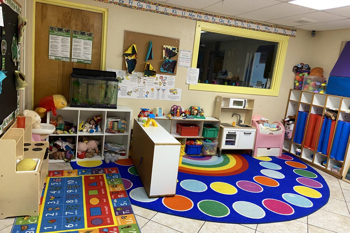 An empty classroom at Bent County Early Learning Center in Las Animas.