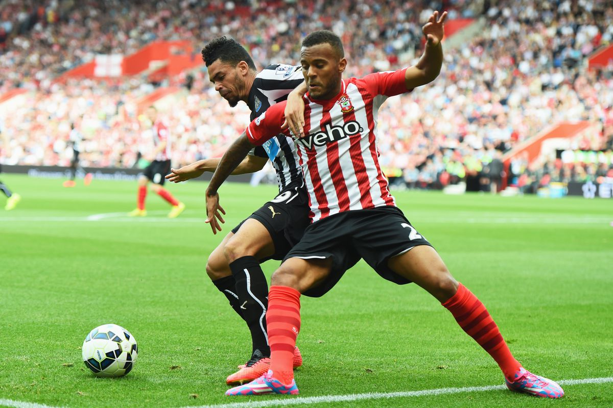Ryan Bertrand in action in the 4-0 win over Newcastle United