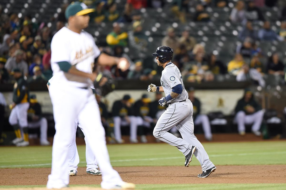 That's Stefen Romero rounding the bases on his only homer of the 2015 season.