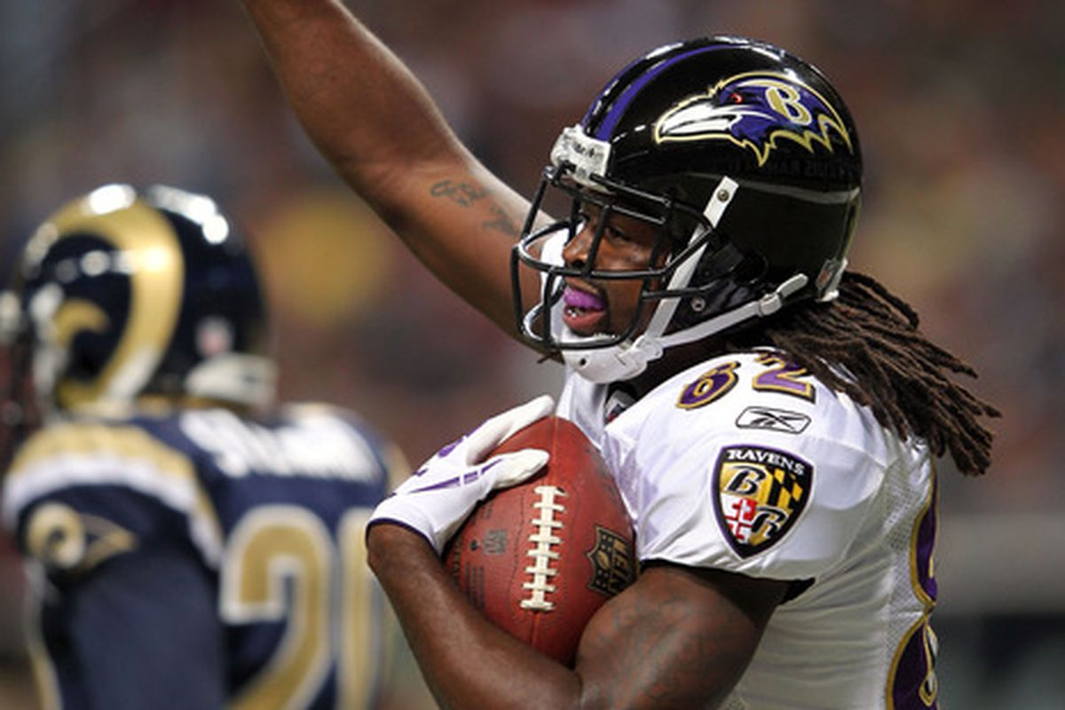 Torrey Smith caught his first three career receptions for touchdowns the last time Baltimore visited St. Louis.