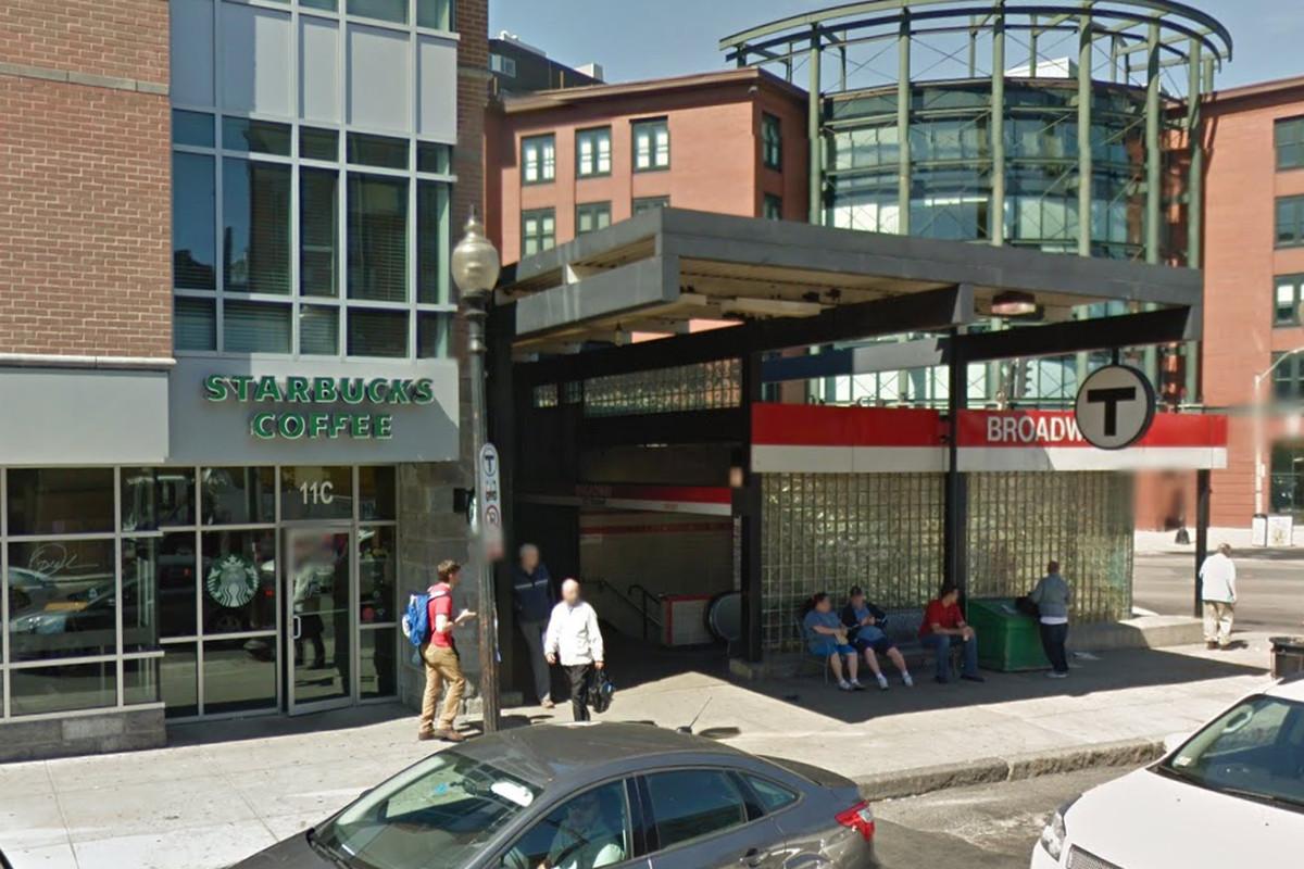 Starbucks near the Broadway MBTA station