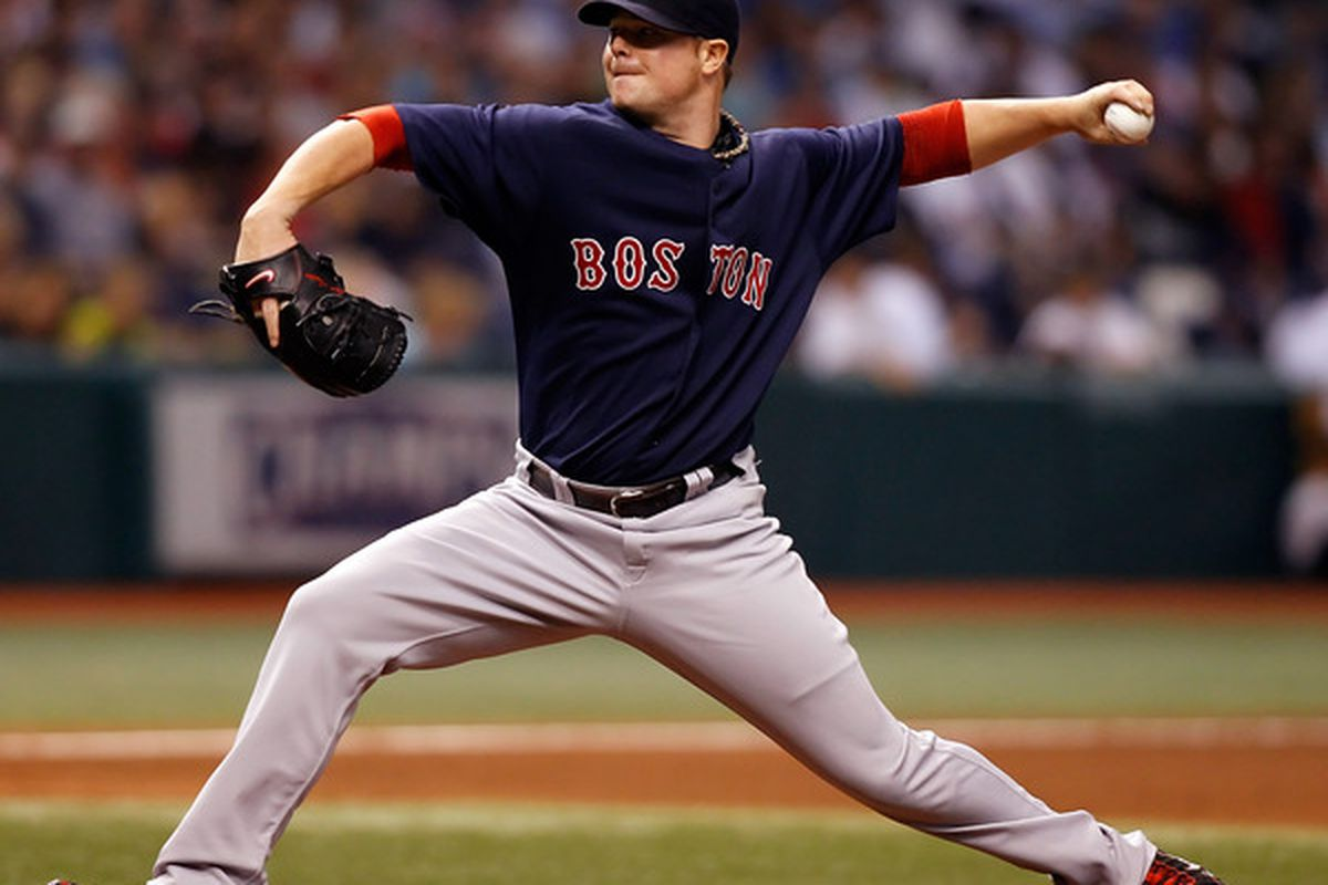 ST PETERSBURG FL - AUGUST 27:  Pitcher Jon Lester #31 of the Boston Red Sox pitches against the Tampa Bay Rays during the game at Tropicana Field on August 27 2010 in St. Petersburg Florida.  (Photo by J. Meric/Getty Images)