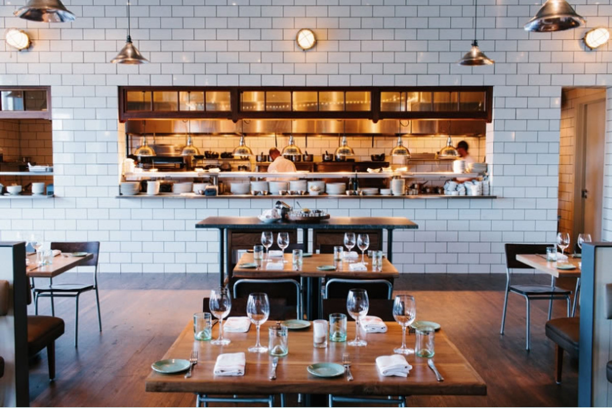 The dining room of the Optimist in Atlanta