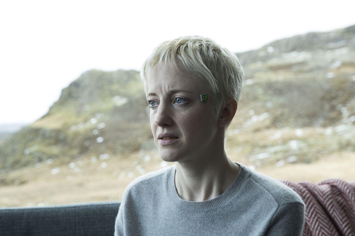 "Andrea Riseborough in ""Crocodile,"" the third episode of Black Mirror's fourth season"
