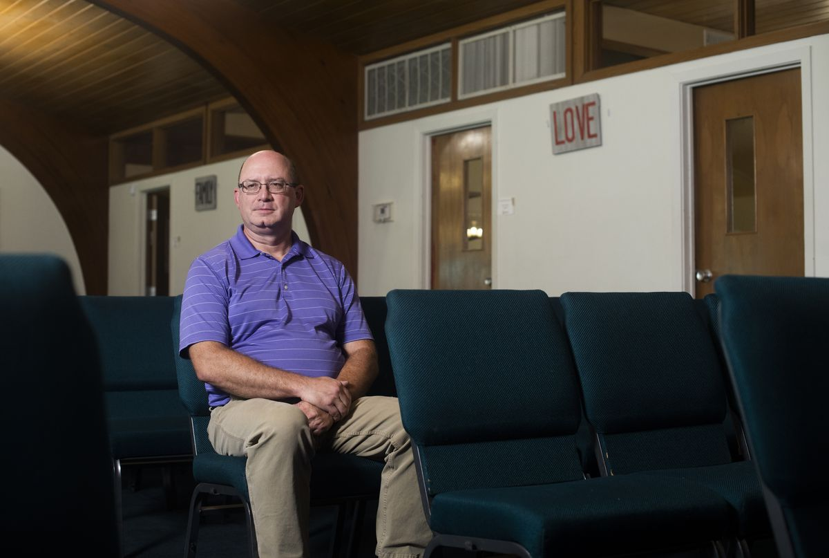 The Rev. Nelson Nissley, associate pastor at Tower View Baptist Church in Kansas City, Mo., is pictured on Friday, Aug. 6, 2021.The Rev. Nissley was initially hesitant to get the coronavirus vaccine but as the pandemic spread he reconsidered and has gotten vaccinated.