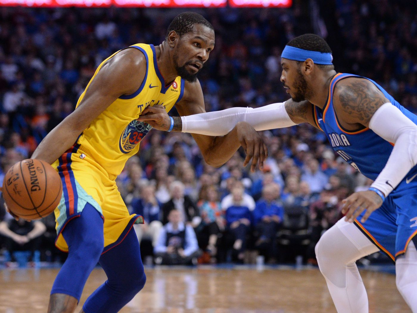 b3c290b1d907 Rumors  Did Carmelo Anthony just cry out to Durant and Curry for help  -  Golden State Of Mind