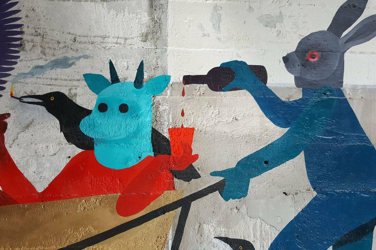 A Ciudad mural by Stacey Rozich.