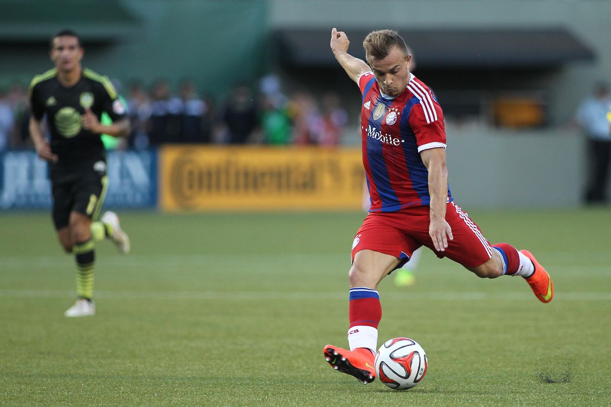 A rare appearance for Shaqiri in a Bayern jersey. Would he fit in well in the Premier League?