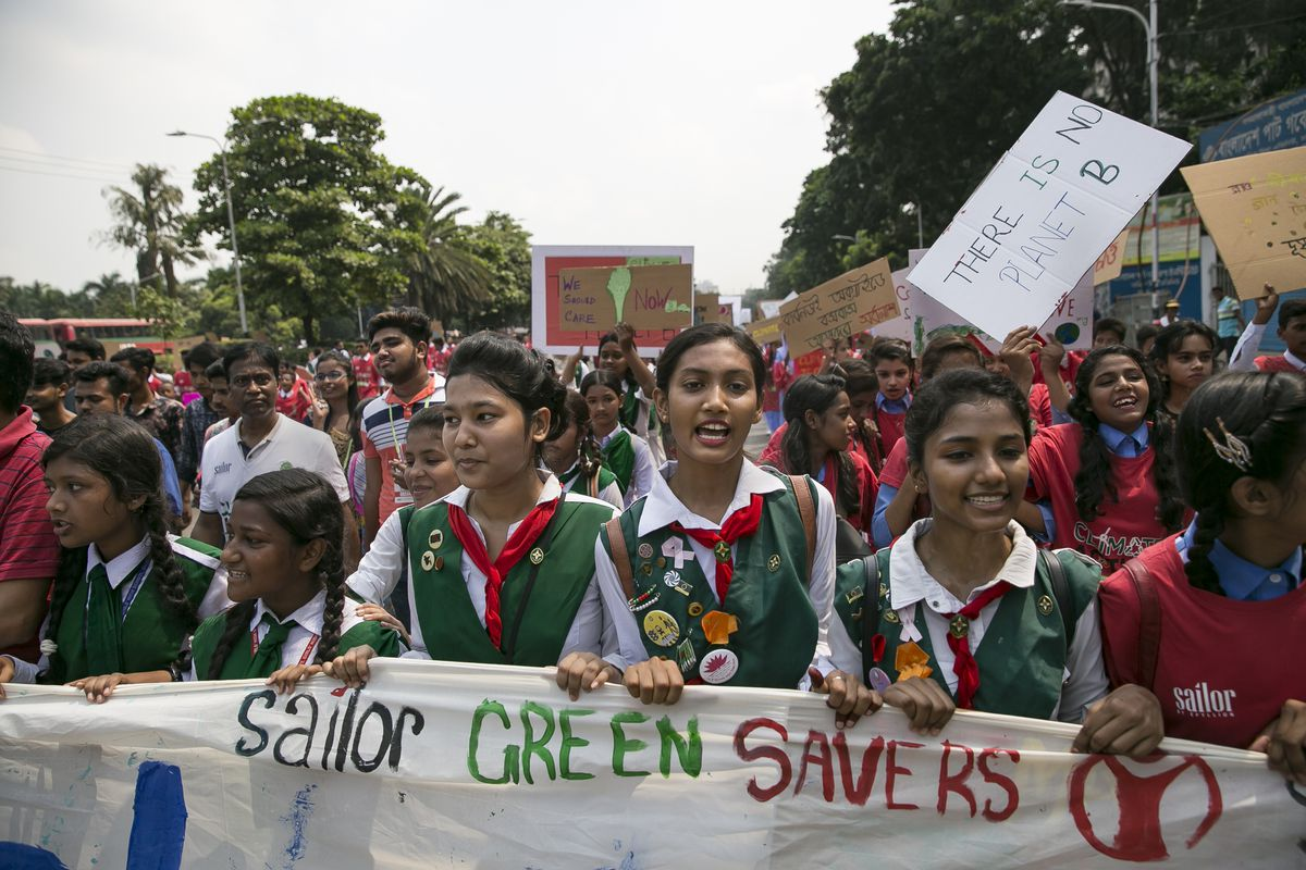 Bangladeshis Rally In Dhaka For Global Climate Strike