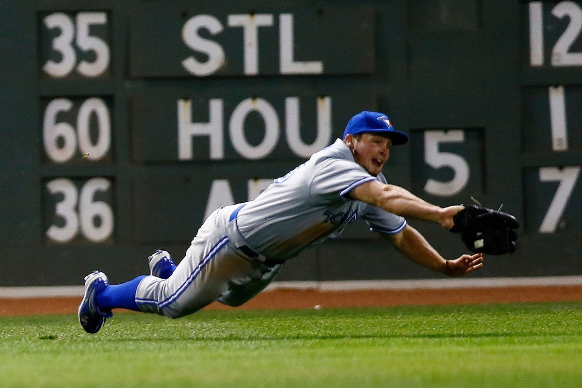 Great catch Travis.  (Photo by Jared Wickerham/Getty Images)