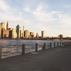 """Because I sit most of the day, working out is a must. In the mornings, though I don't have much time, I run down to my """"backyard""""—<strong>Brooklyn Bridge Park</strong>. There is nothing more inspiring than watching the sunrise reflected off lower Manhatta"""