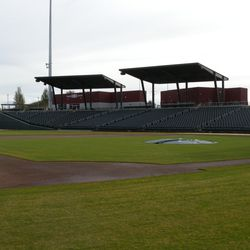 At field level, looking toward the RF line