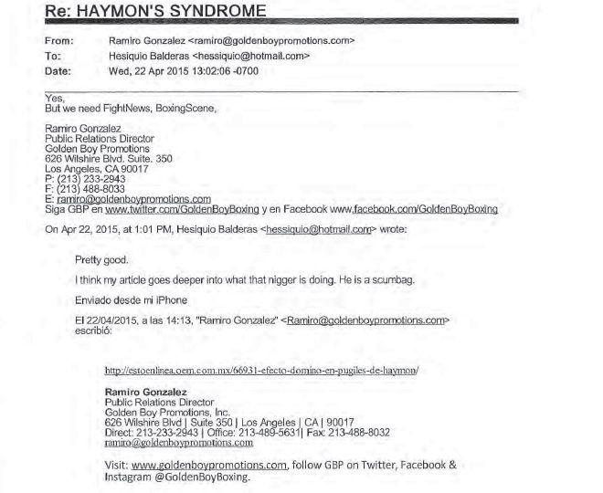 Balderas E-Mail - Haymon N-Word