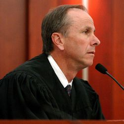 3rd District Judge Anthony Quinn presides over Bret Michael Edmunds' first court appearance at Matheson Courthouse on July 23, 2002. Quinn was killed while riding his bicycle on Thursday, Oct. 24, 2013.