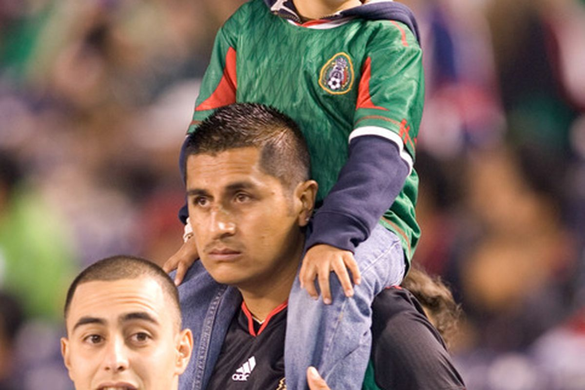 SAN DIEGO, CA - MARCH 29:  Fans of Mexico attend the game against Venezuela at Qualcomm Stadium on March 29, 2011 in San Diego, California. (Photo by Kent Horner/Getty Images)
