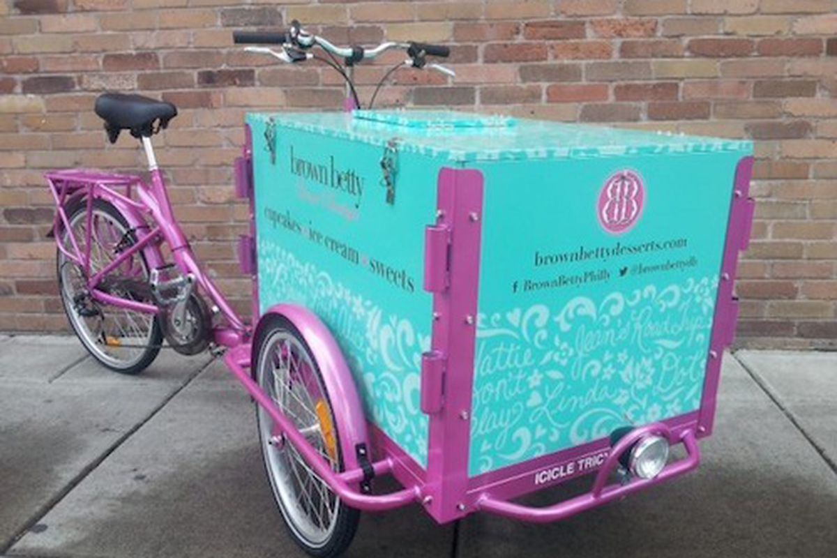 Brown Betty has taken a page out of Little Baby's book with a mobile ice cream bike.