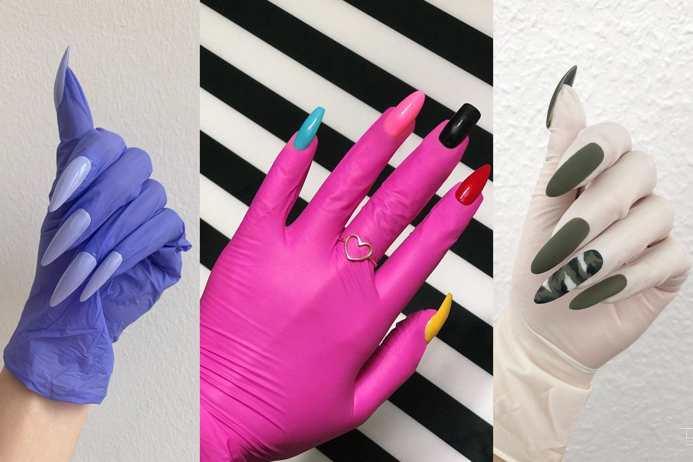 Nail Artists Are Repurposing Surgical Gloves To Show Off Their Art The Verge