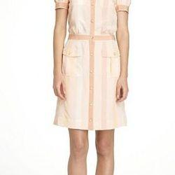 """<b>Gennifer</b> dress, <a href=""""http://www.toryburch.com/GENNIFER-DRESS/52111408,default,pd.html?dwvar_52111408_size=4&dwvar_52111408_color=694&start=12&cgid=sale"""">$255</a> (originally $425)."""