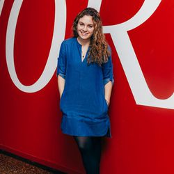 """Maggie Lange, Blogger: """"Here, I like <b>Beacon's Closet</b>. That's where I get most of my stuff. Most is from Uniqlo-ish brands, simple and plain, and the exciting stuff is from random places."""""""