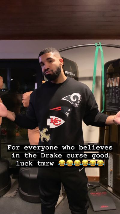 drake - Drake cursed all 4 NFL teams entering championship Sunday