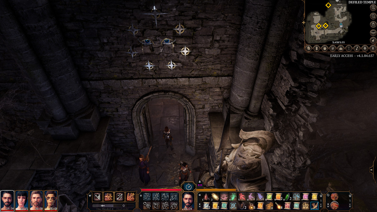 Large eyes surrounded by stars in Baldur's Gate 3