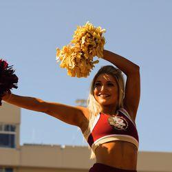 FSU Cheerleader before the game.
