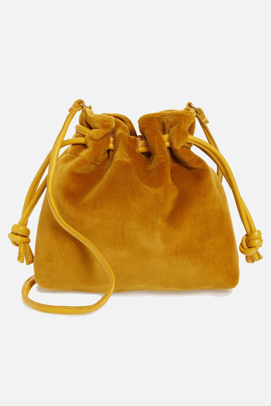 Clare V. Petite Henri Velvet Bucket Bag, $245