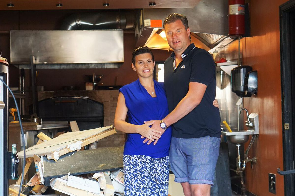 SLiCE owners Marlo and Jason Dilks inside of their soon-to-be Fishtown location
