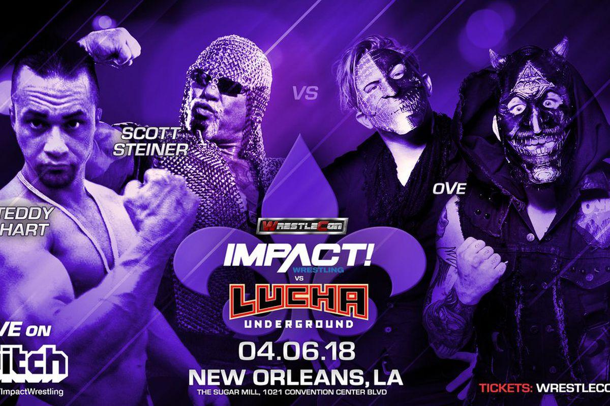 Znalezione obrazy dla zapytania impact wrestling vs lucha underground