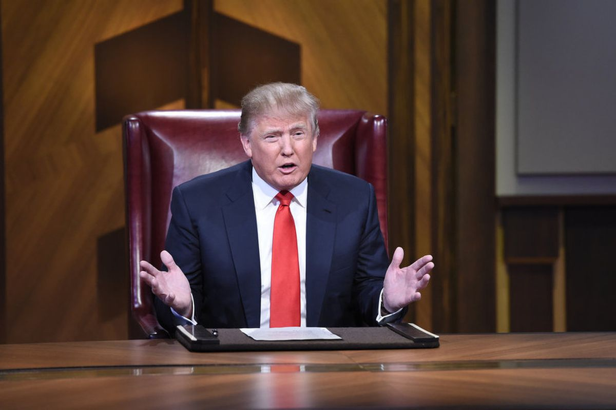 Donald Trump appears in the most recent season finale of The Celebrity Apprentice.