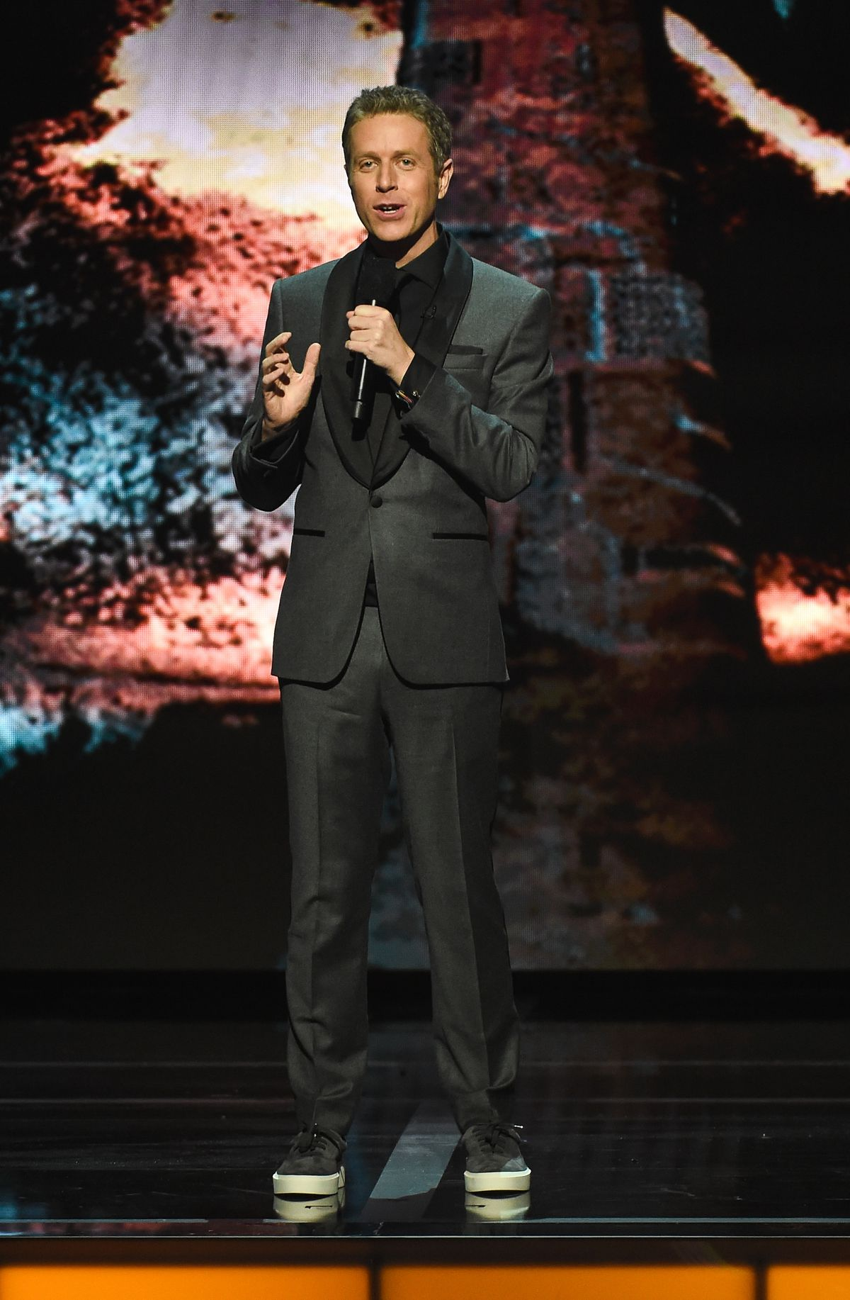 Geoff Keighley speaks onstage at the Game Awards 2019 at the Microsoft Theater