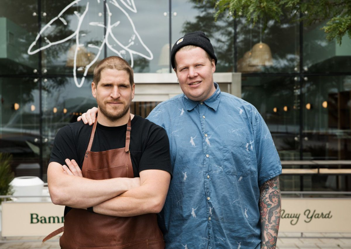 Former Maydan chefs Chris Morgan, left, and Gerald Addison, have undertaken extensive research and travel to open Bammy's