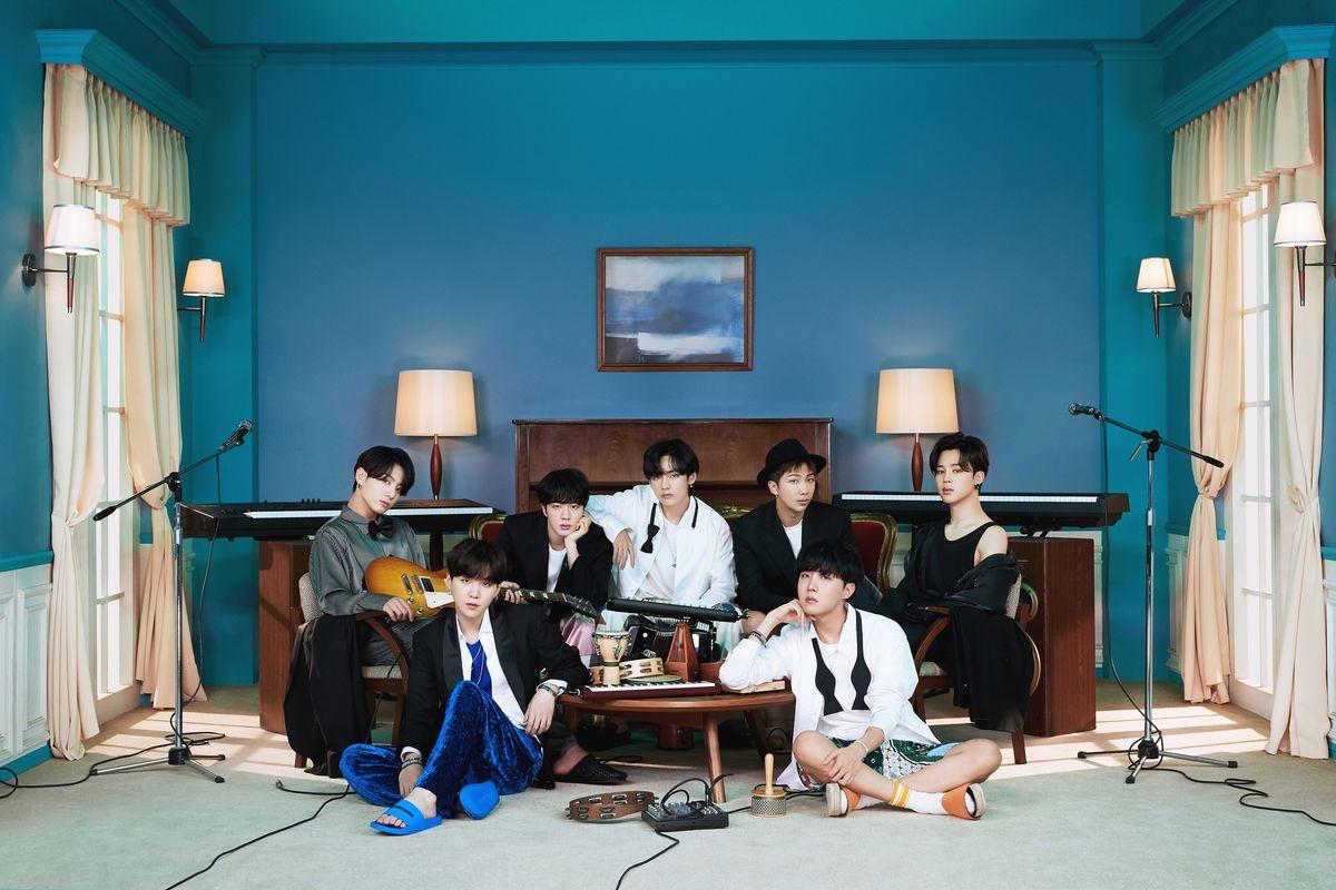 The Korean pop group BTS.