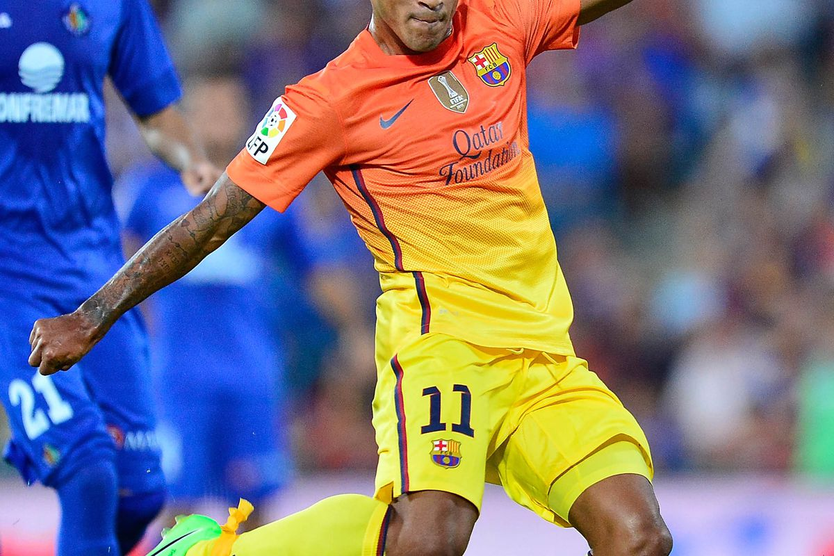 GETAFE, SPAIN - SEPTEMBER 15:  Thiago Alcantara's return from injury could prove crucial in a successful La Liga campaign for FC Barcelona.  (Photo by Gonzalo Arroyo Moreno/Getty Images)