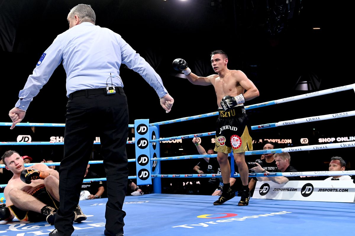 Video: After one-sided beating, Jeff Horn's corner throws in towel vs. Tim  Tszyu - Bloody Elbow
