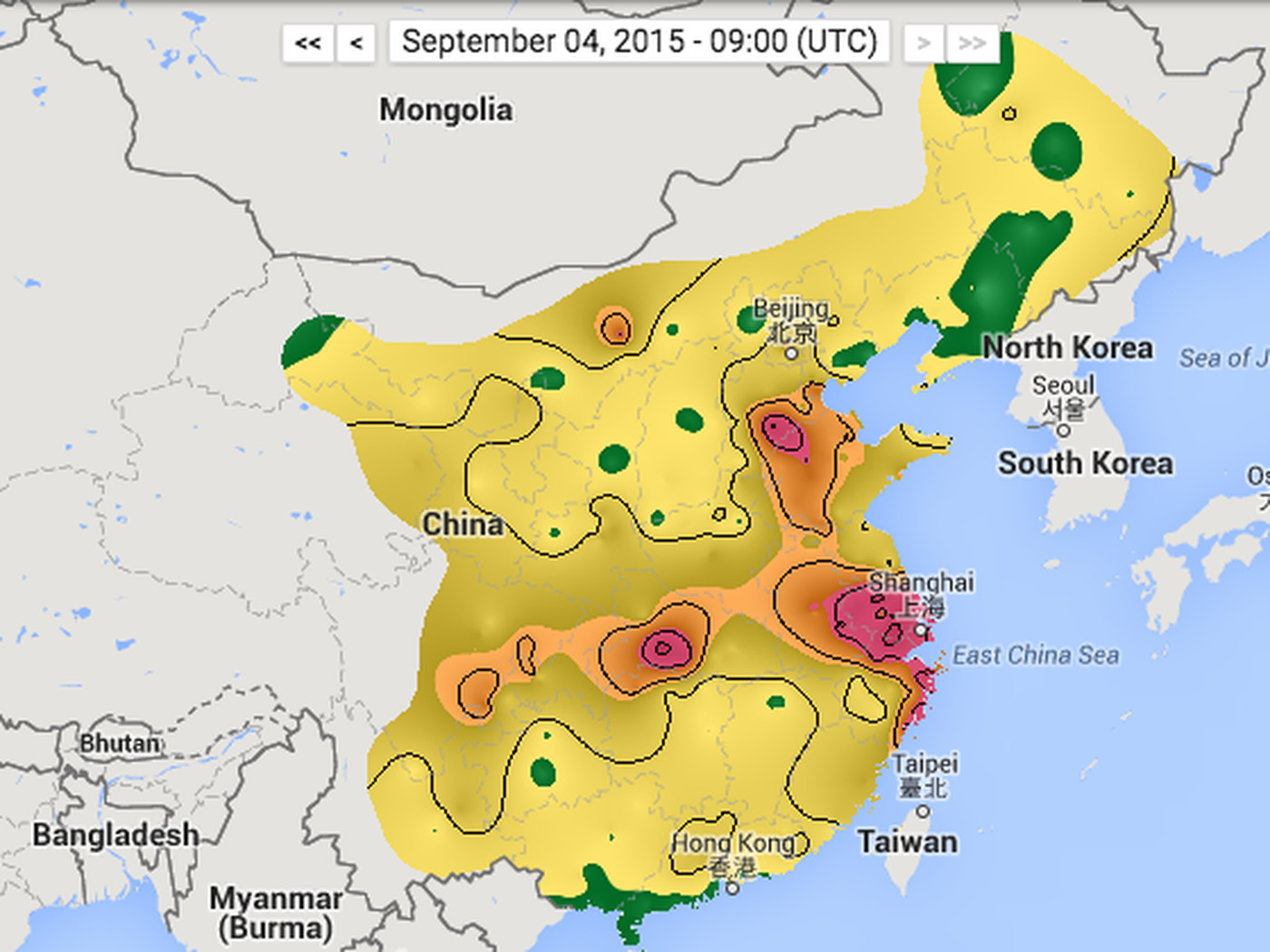 See China's air pollution in real time - The Verge on 2015 map of london, 2015 map of asia, 2015 map of singapore,